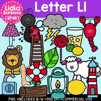 Letter Ll Digital Clipart