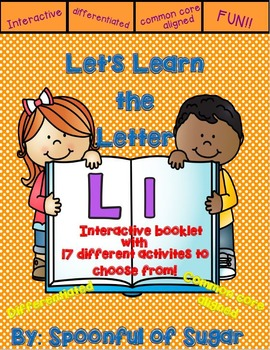Letter Ll- Interactive Activites Booklet