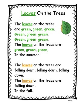 Letter Ll (L is for Leaves and Trees): Letter Zoo- Preschool Curriculum