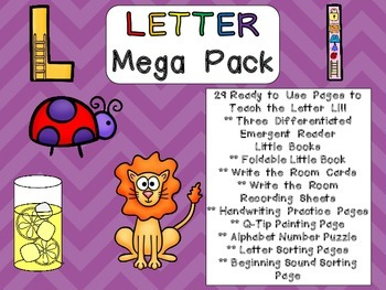 Letter Ll Mega Pack- Kindergarten Alphabet- Handwriting, Little Books, and MORE!