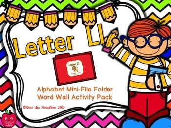 Letter Ll Mini-File Folder Word Wall Activity Pack