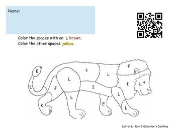 Letter Ll- Worksheets