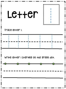 Letter Ll activity worksheet printable trace & write (lowercase)