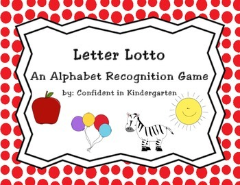 Letter Lotto Alphabet Recognition Game