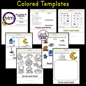 Letter M Alphabet Flip Book (Alphabet Interactive Notebook Activities)