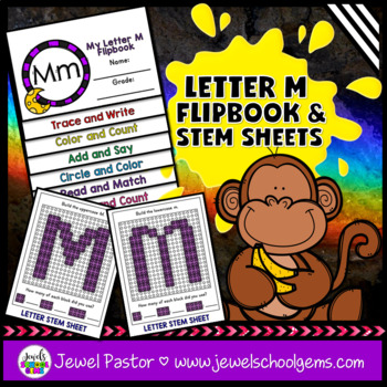 Letter M Alphabet Flip Book (Alphabet Interactive Notebook Activities)