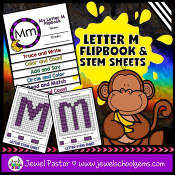 Letter M Alphabet Interactive Notebook Activities Flipbook