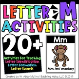 Letter M Alphabet Activities   Recognition, Formation, and Sounds