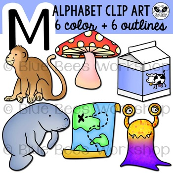 Letter M Clip Art Alphabet / Beginning Sound M