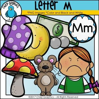 Letter M Alphabet Clip Art Set - Chirp Graphics