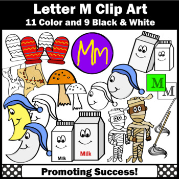 Alphabet Letter M Clipart Beginning Sounds Clip Art Sps By