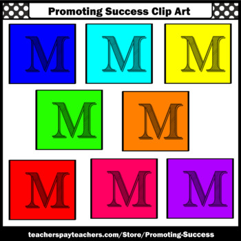 Alphabet Letter M Clipart, Beginning Sounds Clip Art SPS