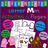 Letter M Unit - Differentiated Letter Writing Pages & Activities