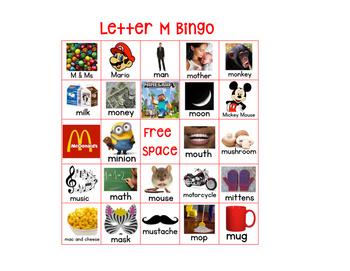 Letter M Bingo