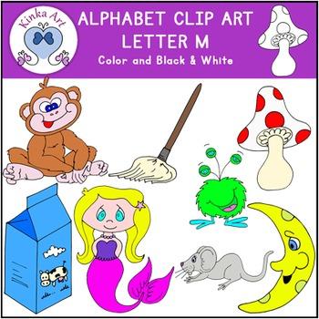 Letter M Clip Art {Beginning Sounds} Alphabet
