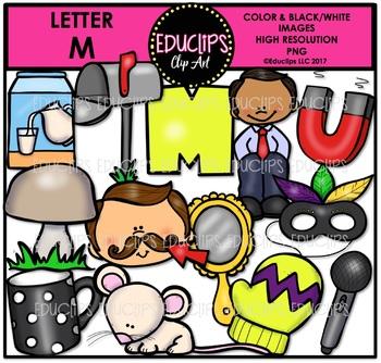 Letter M Clip Art Bundle {Educlips Clipart}