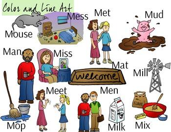 Letter M Clip Art - Color and Line Art 26 pc set