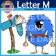 Letter M Clip Art (Map, Monster, Mop, Milk, Mail, Moon)