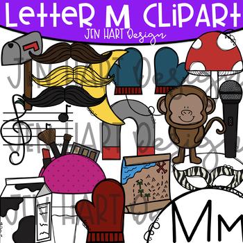 Letter M Clipart - Beginning Sound Clip Art {Jen Hart Clipart}