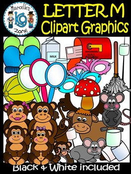 Letter M- Clipart Graphics- Commercial & Personal Use