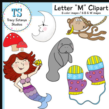 "Letter ""M"" Clipart Set {Tracy Sztanya Studios}"