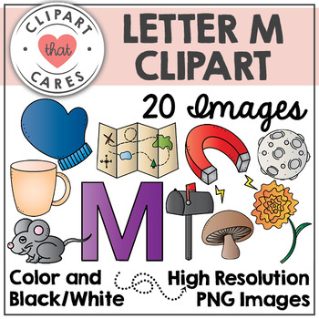 Letter M Alphabet Clipart by Clipart That Cares