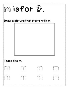Letter M Color and Trace AlphaBook