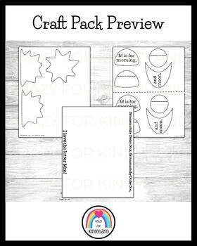 Letter M Craft: Morning, Moon (Skinnamarink)