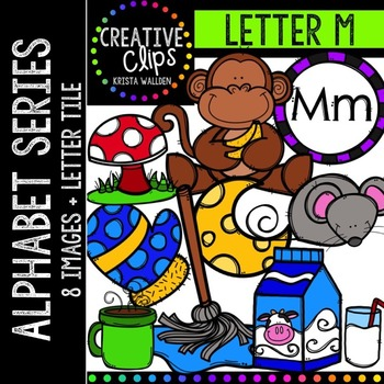 Letter M {Creative Clips Digital Clipart}