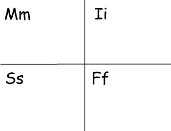 Letter M I S F Picture Sort Saxon Phonics