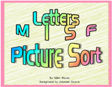Letter M I S F Picture Sort Saxon Phonics