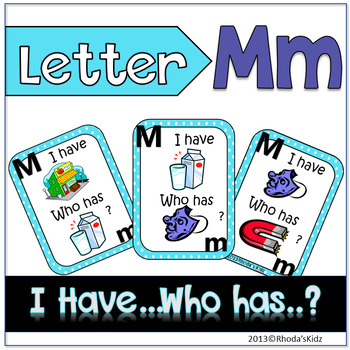 "Letter M  ""I have... Who has?"""