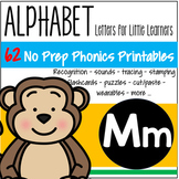 Alphabet M Letter of the Week Phonics Recognition, Sound, Tracing & Craftivities