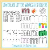 Letter M (Lowercase) Worksheet Helper Clip Art Set For Commercial Use