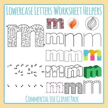 Letter M (Lowercase) Worksheet Helper Clip Art Set For Com