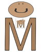 Letter M Monkey Cut-out