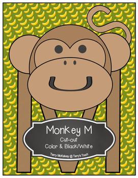 Letter M Monkey Cut-out
