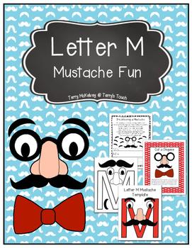Letter M Mustache Fun