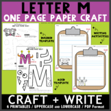 Letter M One Page Paper Crafts - Monster and Mouse