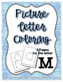 Letter M - Picture Alphabet Coloring