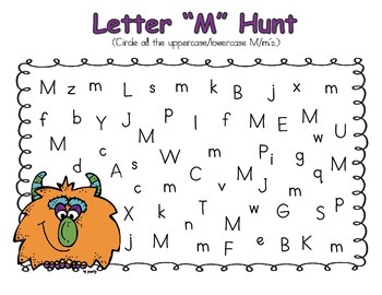 Letter M Preschool Unit by Preschool Discoveries TpT