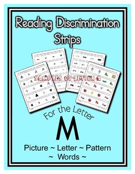 Letter M Reading Discrimination Strips for Fluency and Alp