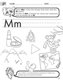 Letter M Sound Worksheet with Instructions Translated into Spanish for Parents