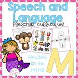 Letter M Speech and Language Preschool Curriculum