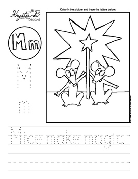 Letter M Trace and Write Worksheet Pack