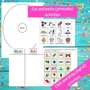 Letter of the Week Letter M Unit for Special Education