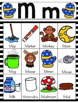 Letter M Vocabulary Cards
