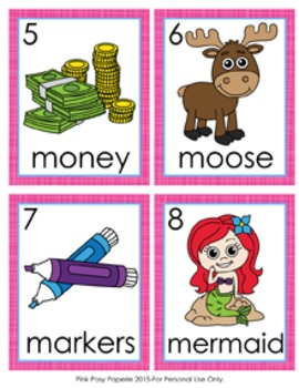 Letter M Words Write the Room Activity