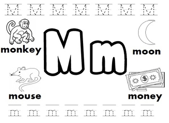 letter m worksheets by kindergarten swag teachers pay teachers. Black Bedroom Furniture Sets. Home Design Ideas
