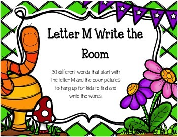 Letter M Write The Room Activities